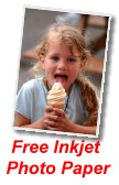 Free photo inkjet paper for just two minutes of your time
